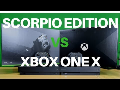 Xbox One X Vs Xbox One X Project Scorpio Edition Unboxing