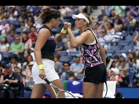 Elise Mertens and Aryna Sabalenka win US Open women's doubles title