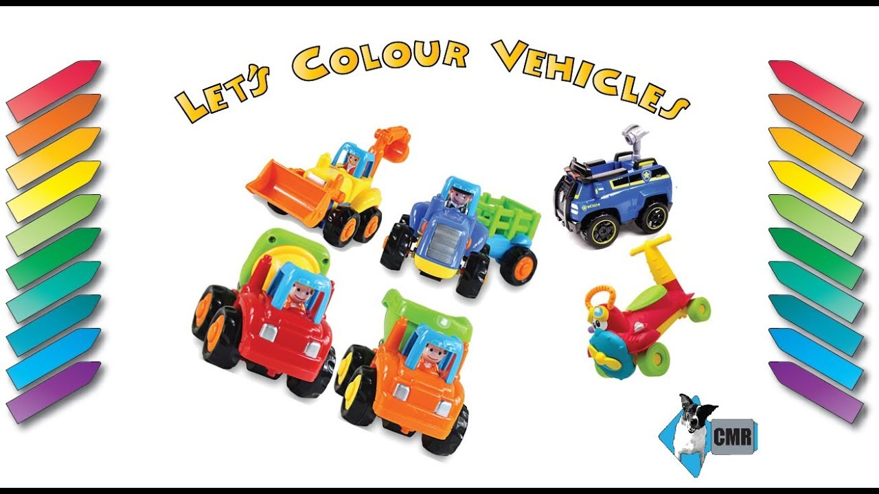 let u0027s color vehicles learning vehicle names youtube