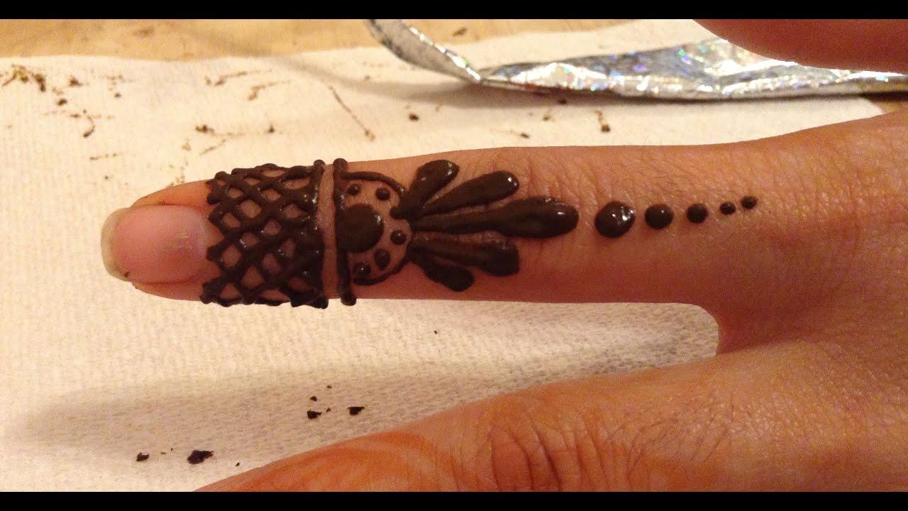 Mehndi On Fingers Only : Henna design for fingers youtube