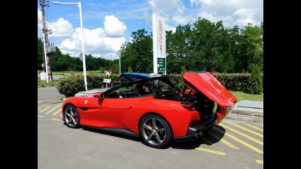 Ferrari Portofino Start Up Sound Acceleration Roof Operation Youtube