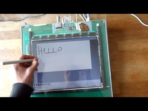 Custom pen tablet/screen combination with wooden stand