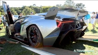 $4.5M Lamborghini Veneno Cold Engine Starts Up LOUD Exhaust Sound, Driving & Dashboard in Action!