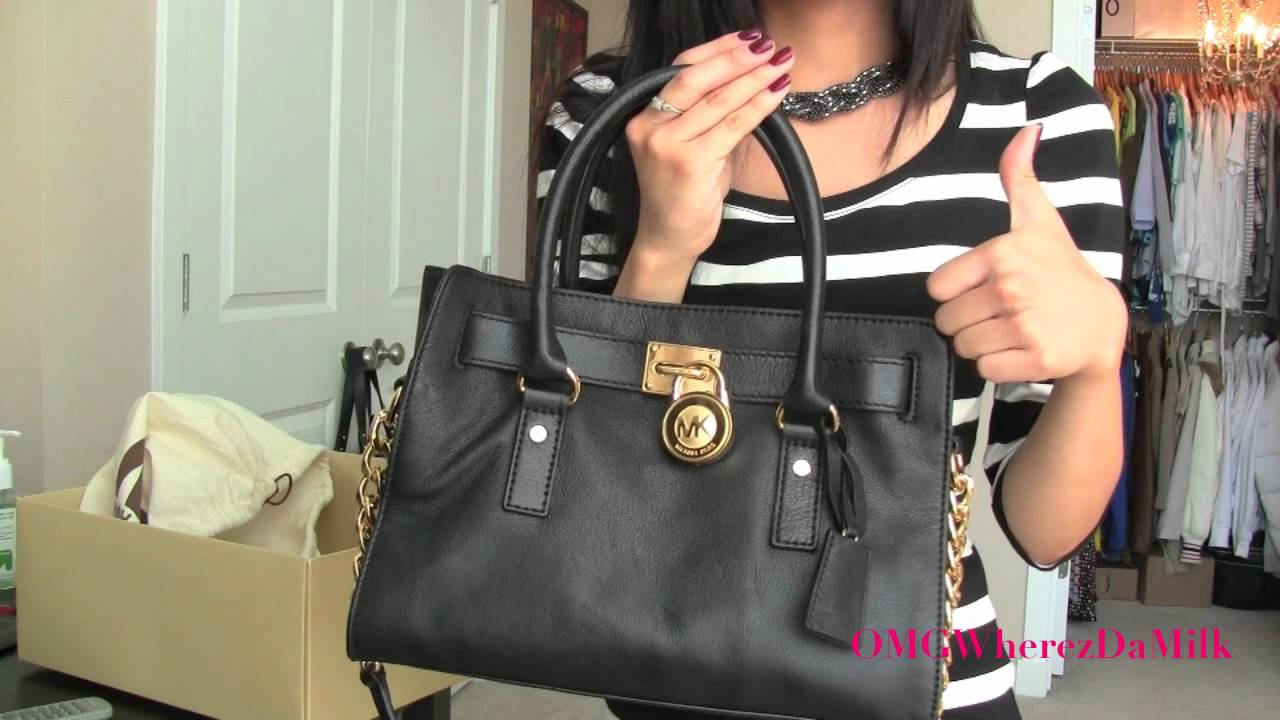 85fcab60bf36a0 Haul: MICHAEL KORS Hamilton Satchel! :D - YouTube
