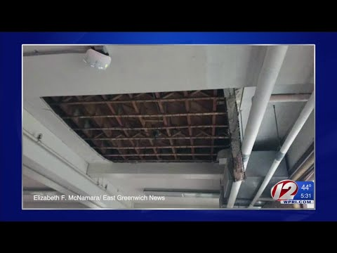 Part of East Greenwich school gym ceiling gives way during class