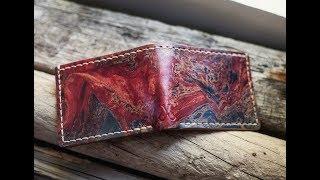 Making a Tie Dye Leather Wallet