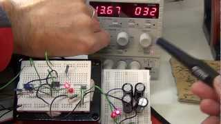 Solar Powered Kindle / eReader #1: Inital circuit with Schmitt Trigger using 555 timer