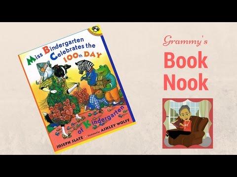 Miss Bindergarten Celebrates the 100th Day of Kindergarten   Children's Books Read Aloud
