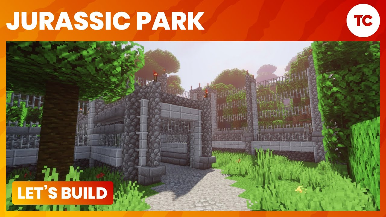how to make a fence minecraft. Let\u0027s Build Jurassic Park! - Ep 3 Electrified Perimeter Fences Minecraft PC YouTube How To Make A Fence T