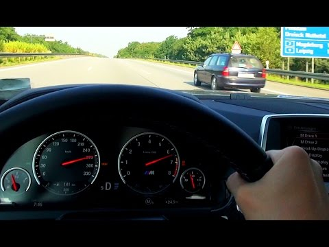 BMW M6 Acceleration Kickdown Onboard Autobahn F12 Cabrio F13 Autostrada Top Speed Driver View Test D - BerlinTomek  - zk4fDA9e0EY -