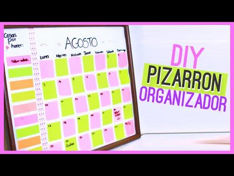 DIY PIZARRON ORGANIZADOR (Calendario) - Regreso a clases ♥ Jimena Aguilar