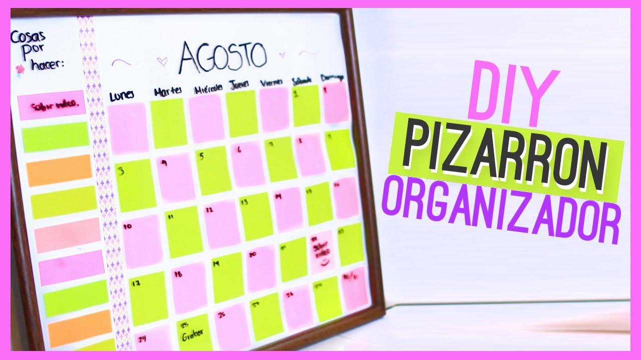 DIY PIZARRON ORGANIZADOR (Calendario) - Regreso a clases ♥ Jimena ...