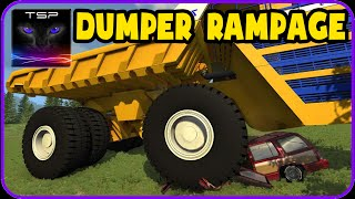 BeamNG drive - Huge Belaz Dump Truck CRUSHING & DESTROYING Stuff