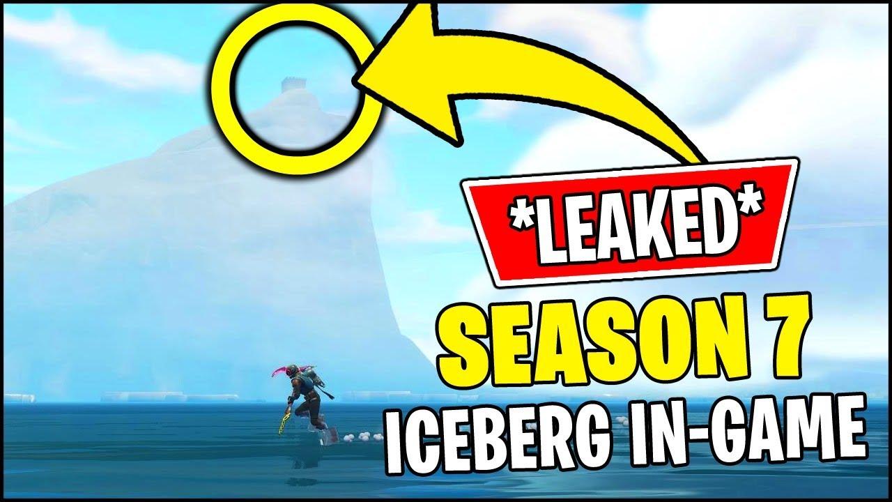 New Fortnite Season 7 Iceberg Moving Snow Castle Event Leaked In