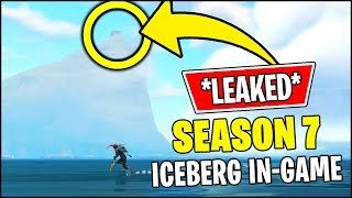 'NEW' Fortnite SEASON 7 ICEBERG EN MOUVEMENT, NEIGE ET CHÂTEAU ÉVÉNEMENT FUITE IN-GAME 'RIGHT NOW'