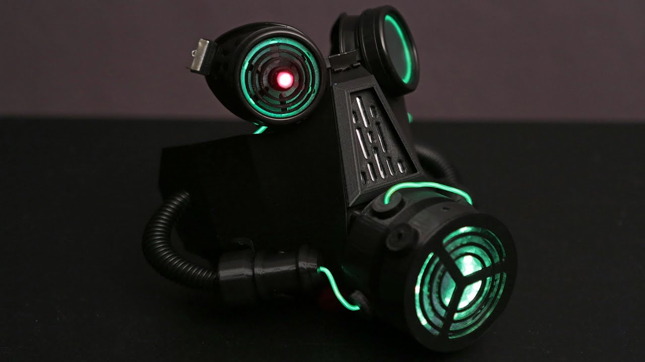 Neopixel led gas mask 3d thursday 3dprinting adafruit youtube voltagebd Images