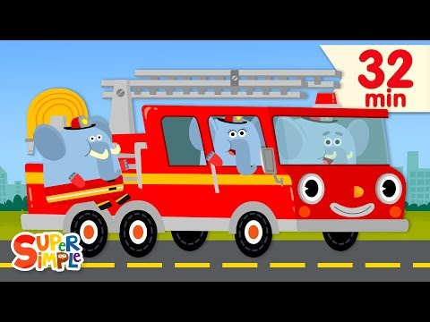 Here Comes The Fire Truck   + More Kids Songs   Super Simple Songs