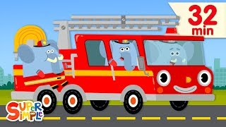 here Comes The Fire Truck | + More Kids Songs | Super Simple Songs