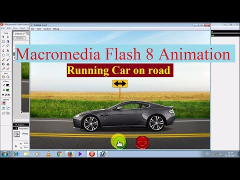 Macromedia Flash 8 Animation: Running Car on road