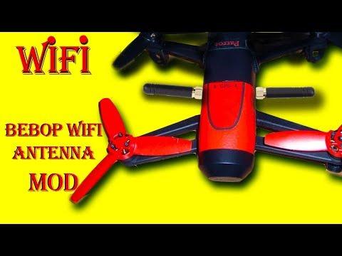 Parrot Bebop Antenna modification,bebob 1 bebop 2 WiFi antenna mounting. try signal boost