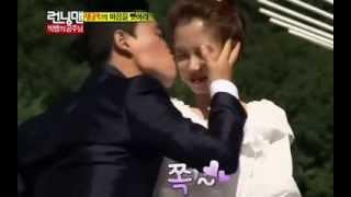 Running Man Episode 163: Kang Gary kisses Song Ji Hyo on the cheek!