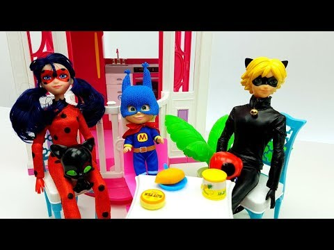 MASHA E ORSO CON LADYBUG E CHAT NOIR - giocattoli e cartoni animati per bambini Miraculous Marinette