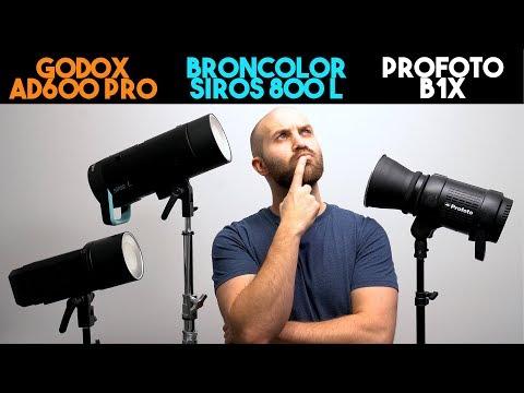 Profoto B1X vs  Flashpoint Xplor 600 Pro (Godox AD600 Pro) vs  Broncolor Siros 800 L