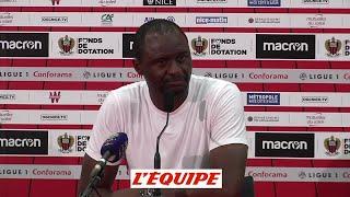 Vieira «On va retourner la situation, sans aucun doute» - Foot - L1 - Nice