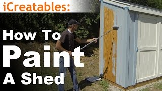 How To Build A Lean To Shed - Part 10 - Painting