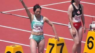 2015 九州インカレ 鹿児島 鴨池競技場 女子 100mハードル 決勝