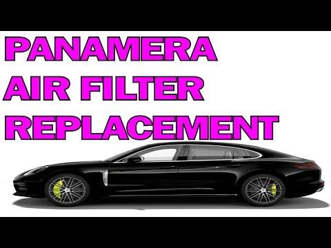 PORSCHE PANAMERA AIR FILTER CHANGE DIY - HOW TO
