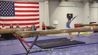 kara eaker scores a huge 15 150 on beam
