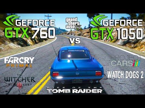 GTX 1050 vs GTX 760 Test in 6 Games (i3 6100)