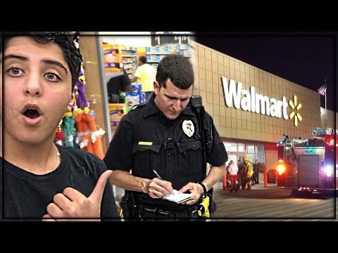 TRYING TO GET KICKED OUT OF WALMART! (COPS CAME)😨🚓
