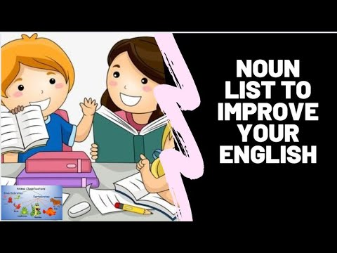 Noun List of words|Noun English grammar