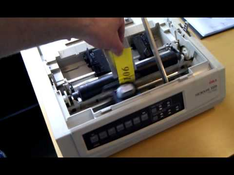 Oki Microline 3320 Printing Rubber Youtube