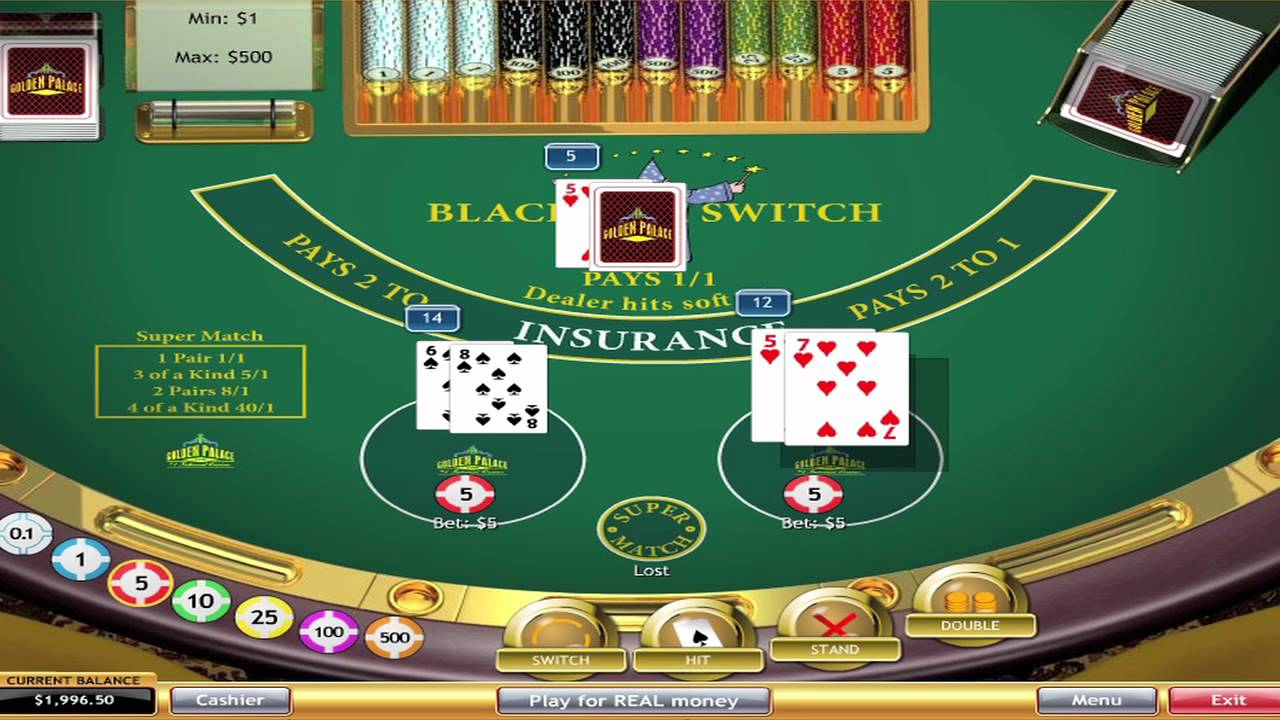 Does blackjack switch have better odds no deposit casino games south africa