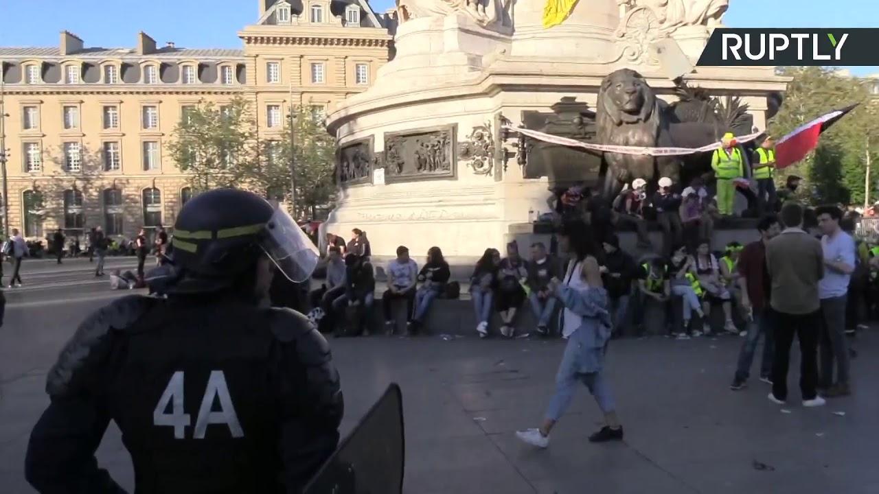 «Жёлтые жилеты» вышли на 23-ю акцию протеста в Париже
