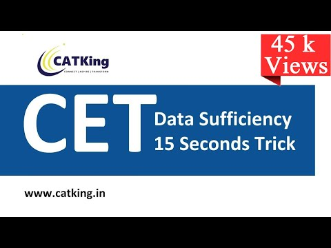 MBA CET: Data Sufficiency Simple 15 Seconds Tricks