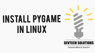 ... commands to install pygame python library in ubuntu linux : sudo apt python3 pyth...