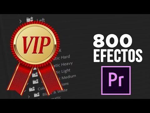 Premiere Library - Más de 800 efectos profesionales para Adobe Premiere.