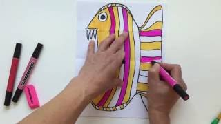 Folded Surprise Animal Drawing Project
