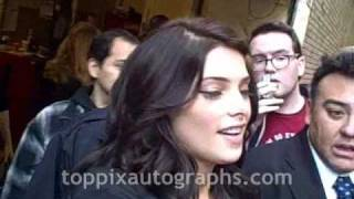 "Ashley Greene - Signing Autographs at ""Live with Regis & Kelly"" in NYC"