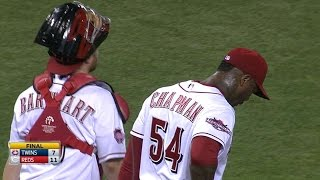 MIN@CIN: Chapman strikes out the side in the 9th