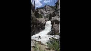 Boulder Falls, Colorado RAW VIDEO STUNNING Waterfall