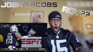 Josh Jacobs Rookie Of The Year?? Raiders vs Broncos Highlights Reaction!!!