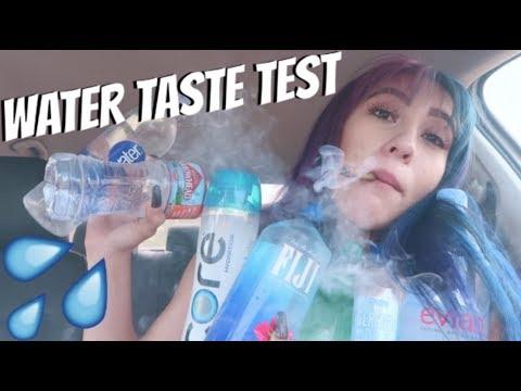 TASTE TESTING DIFFERENT BRANDS OF WATER // LIFEBEINGDEST