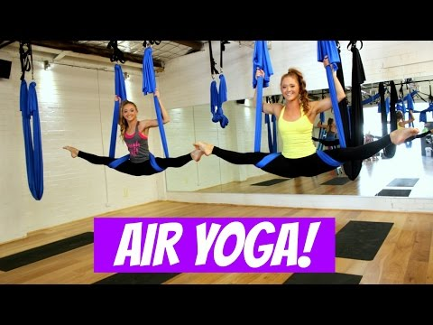 AIR YOGA! First time!