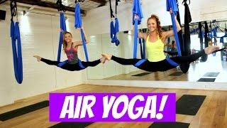 AIR YOGA! First time!