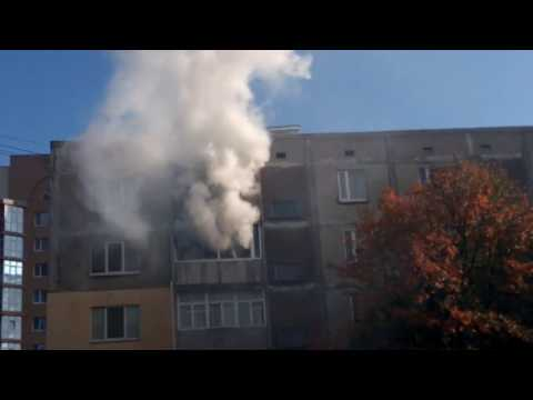 Ладижин. Пожежа в квартирі. Вул. Будівельників, 35 (25.10.17)